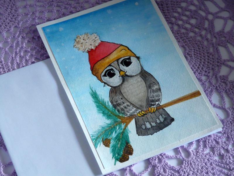 Днем, авторская открытка кабанова