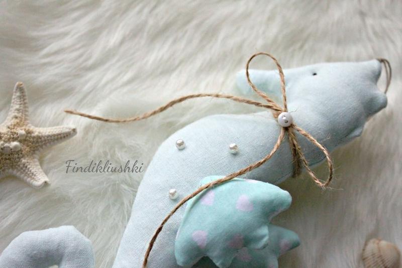 Морской конек в стиле тильда. Игрушка морской конек, морские обитатели