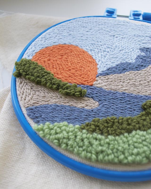 Набор в ковровой технике торт из ткани купить