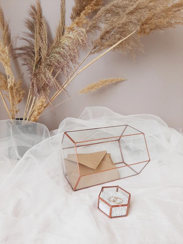 Свадебная шкатулка и сундук для конвертов, НАБОР. Казна для денег. Коробочка для колец.