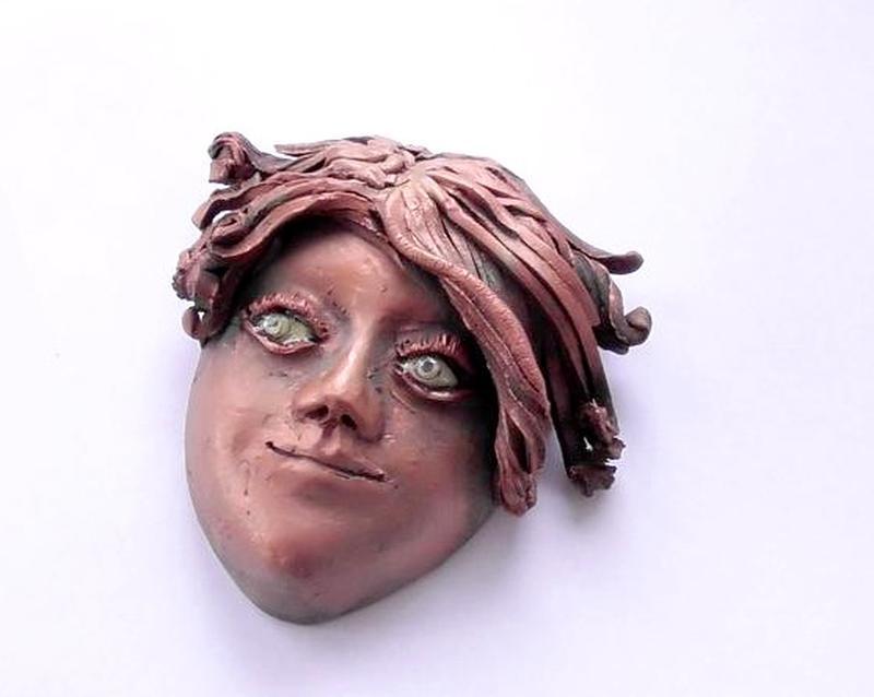 Маска интерьерная декор на стену лицо девушки