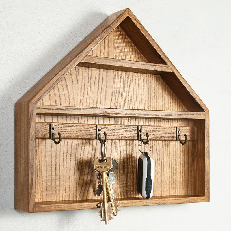 Ключница из дерева домик своими руками 48
