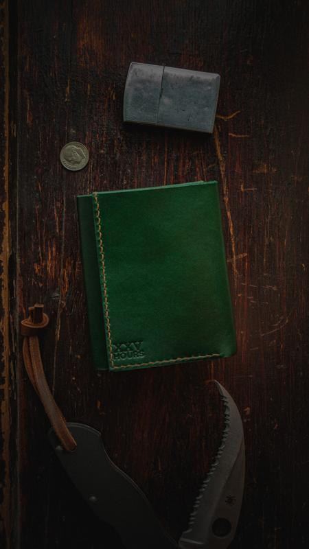Шкіряний гаманець (Зелений) Green Wallet