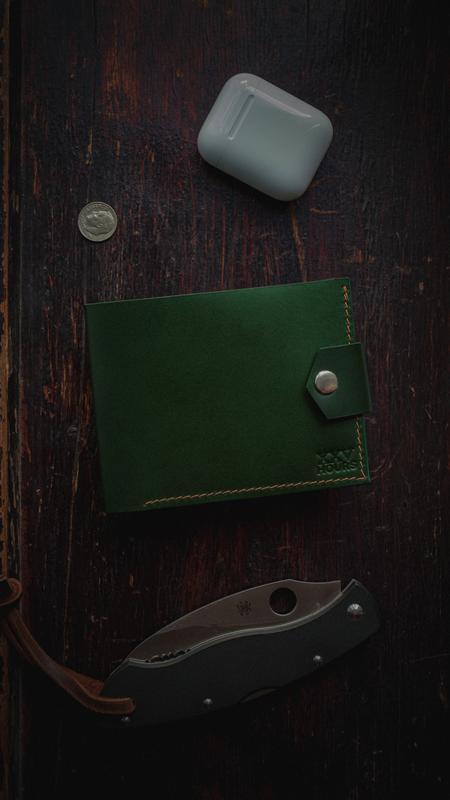 Шкіряний гаманець (Зелений) Pointer Buttero