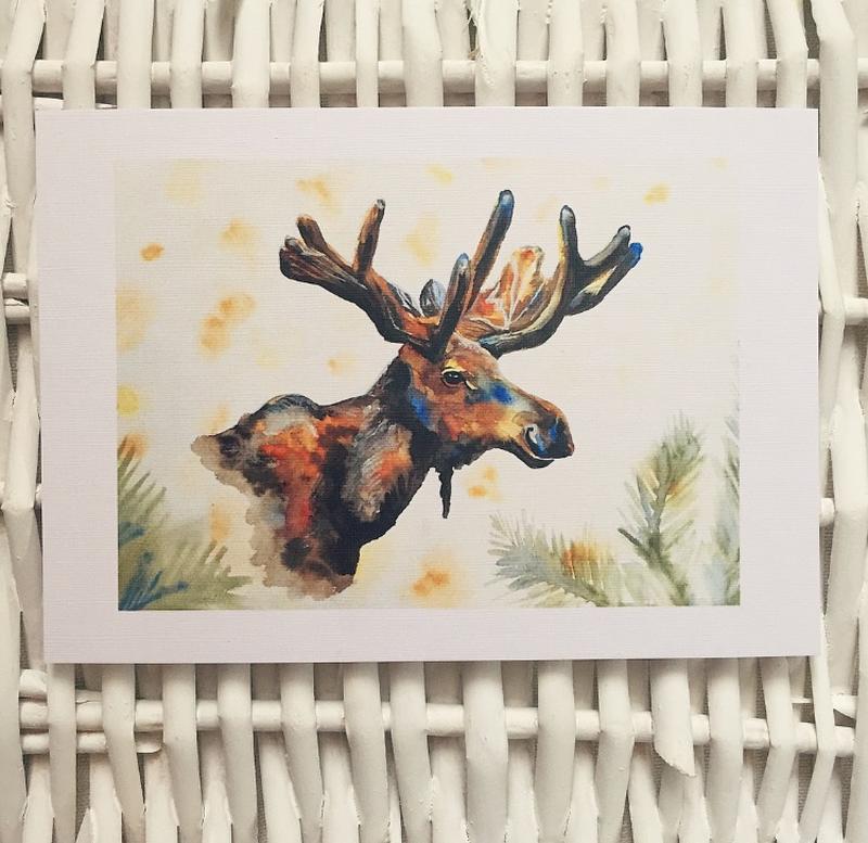 Открытки с лосями, картинки открытки