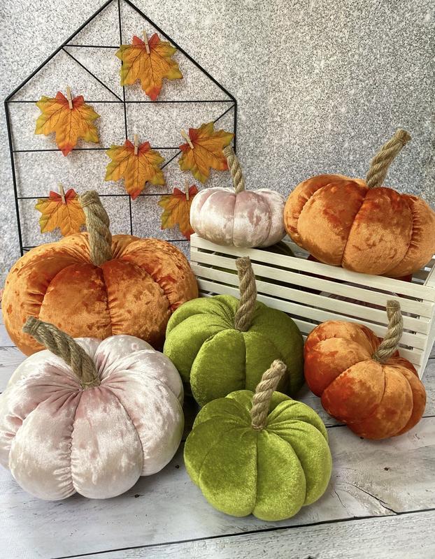 Текстильные тыквы, осенний декор, Хэллоуин