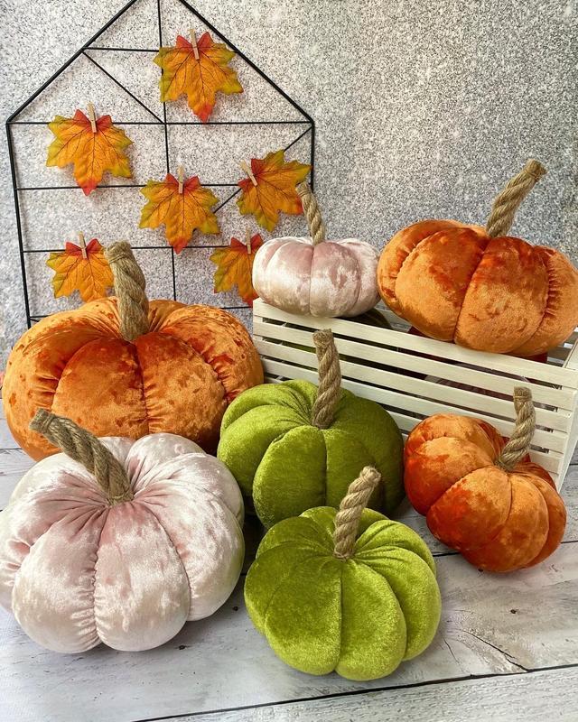 Набор текстильных тыкв, осенний декор, Хэллоуин