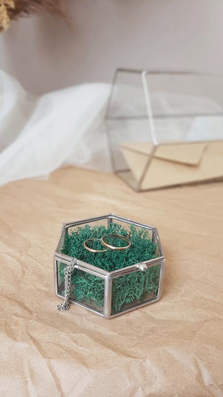 Свадебная шкатулка для обручальных колец. Шкатулка для колец с наполнением.