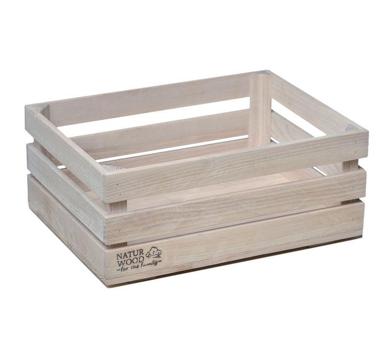 Белый деревянный ящик NATURWOOD 40х30х17 см