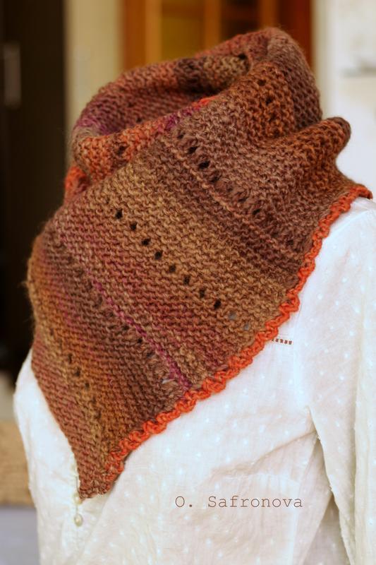 Вязаный шарф Осенняя роща