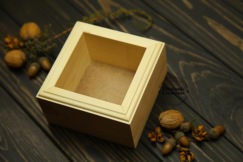 Деревянная коробка, коробка для хранения, органайзер, кашпо, плантер.