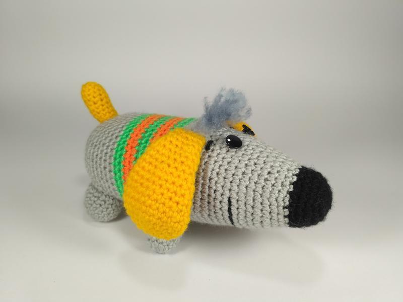 собака такса мягкая игрушка вязаная крючком ручной работы купить в