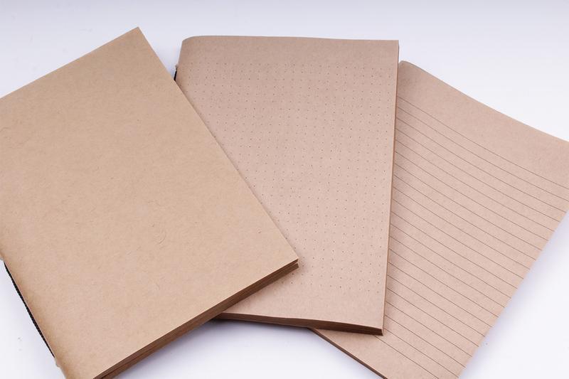 Кожаный блокнот на резинке со сменными блоками