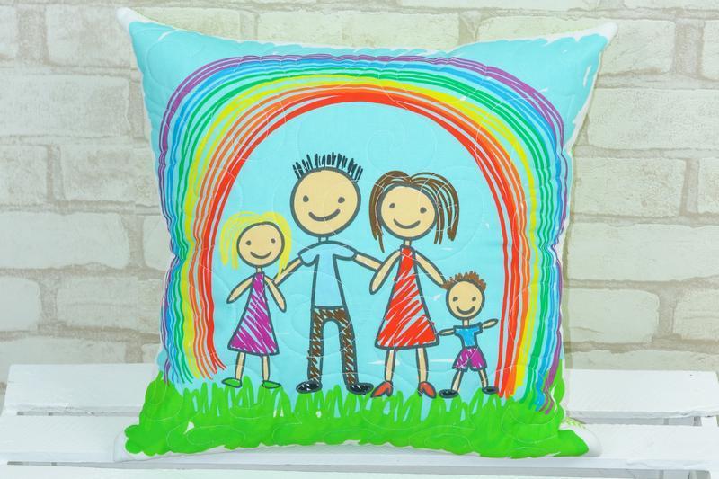 Подушка Loskutini c конопляным наполнителем «Детские рисунки»
