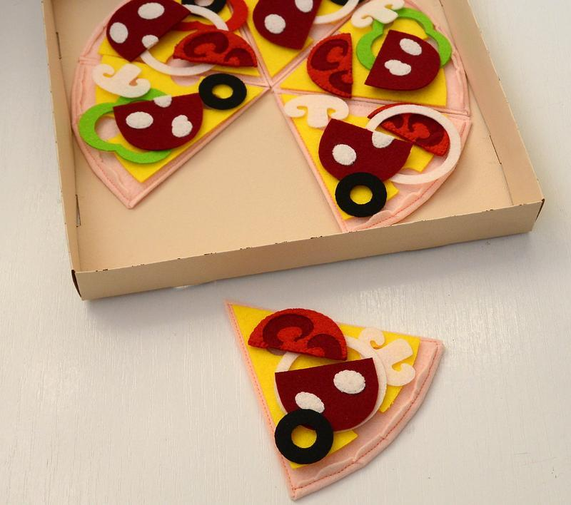 Пицца из фетра/ Игровая еда