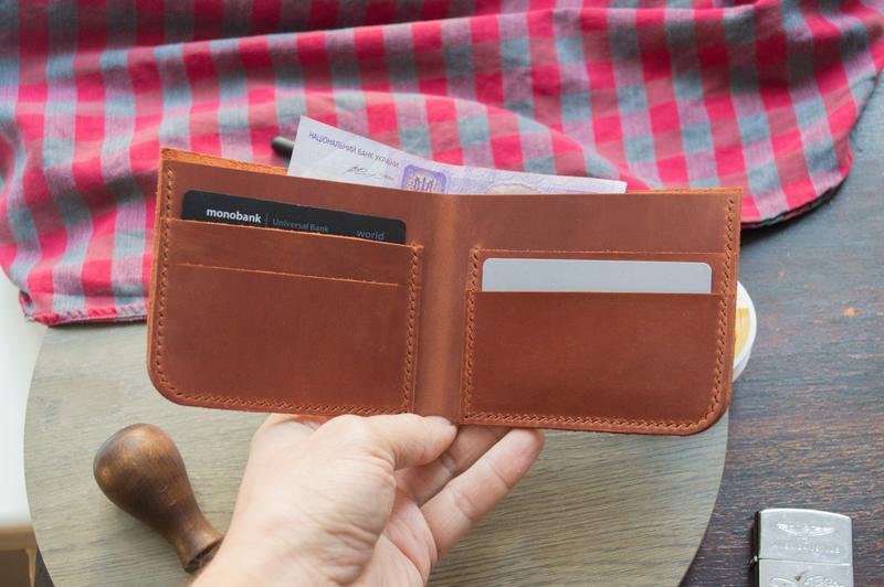 Шкіряний гаманець (Коньяк) Middler