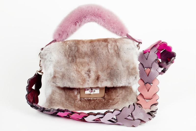 Наплечный ремень для сумки, из итальянской кожи Флотар, фигурный, цветной.
