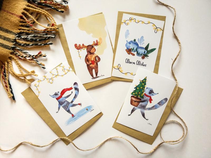 Набор новогодняя открытка