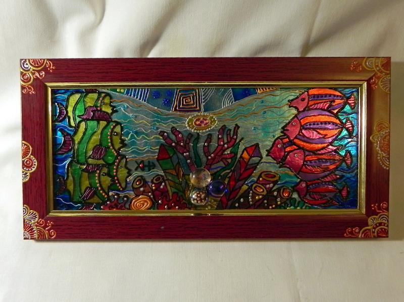 Вітражна картина «Риби.На кордоні»