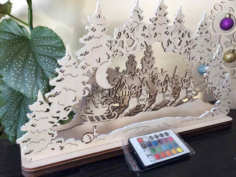 """Декор для камина или окна """"Сказочный лес"""""""