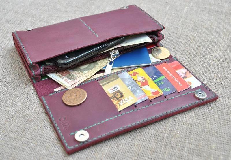 1a571584df23 Яркий вместительный кошелек из натуральной кожи K41-800+green ручной ...
