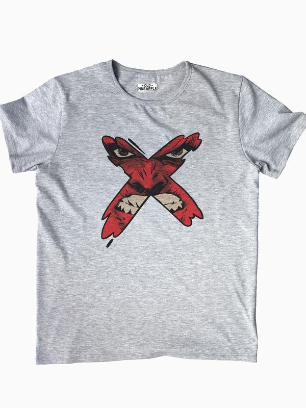 """Мужская футболка с авторским принтом """"X"""""""