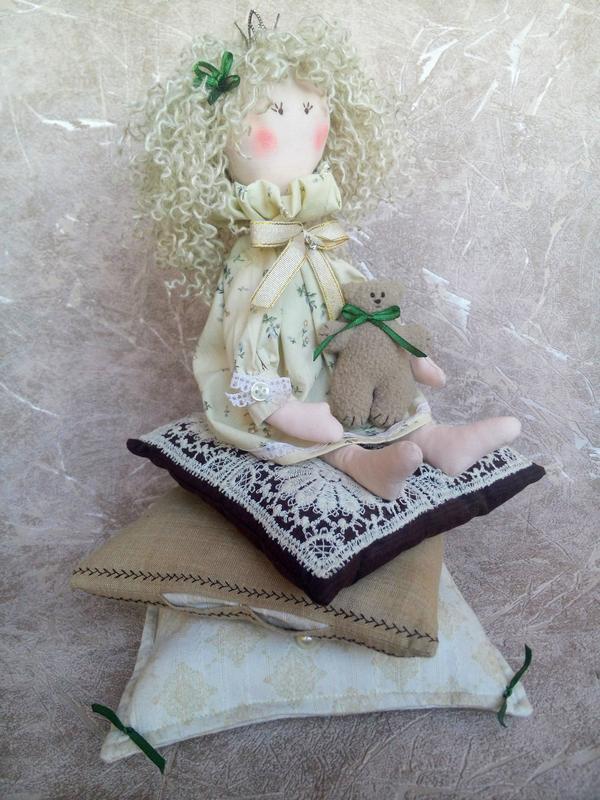 Принцесса на горошине, Тильда, интерьерная игрушка