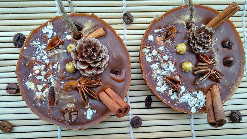 Шоколадное,восковое саше для ароматизации Вашего дома!