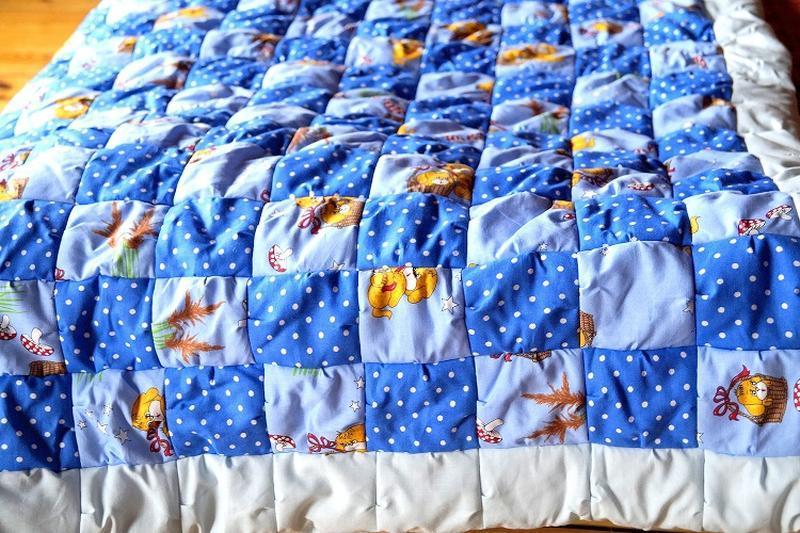 как сшить детское лоскутное одеяло вручную перед тем как
