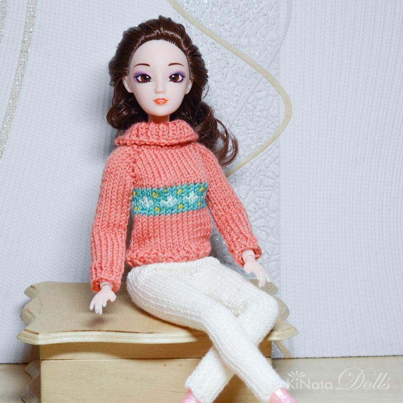 Теплый зимний или демисезонный комплект одежды для Барби