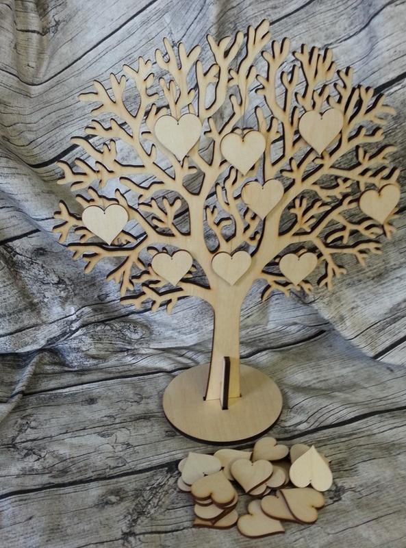 Новым, открытка дерево счастья шаблон