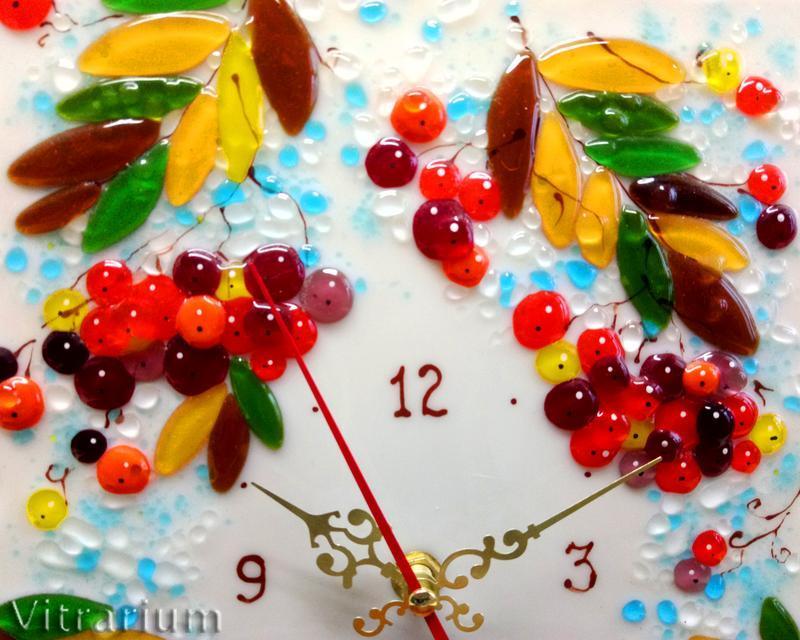 """Годинники настінні """"Горобина зимова"""""""