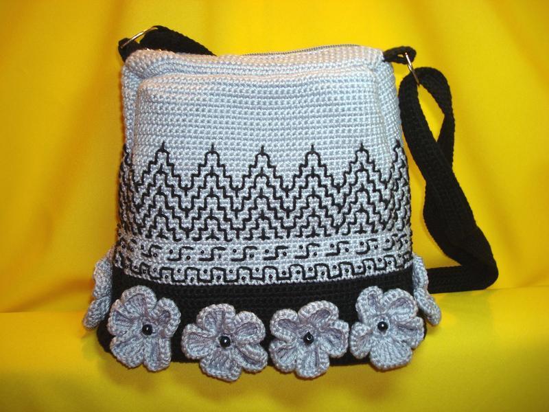 40213231452c Вязаная сумочка Грань ручной работы купить в Украине. №152836