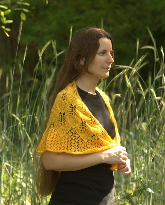Шаль Желтые листья