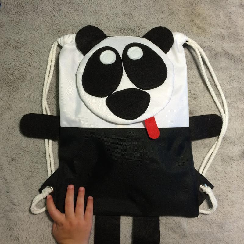 """Детский рюкзак """"Панда"""" ручной работы купить в Украине. 16033"""