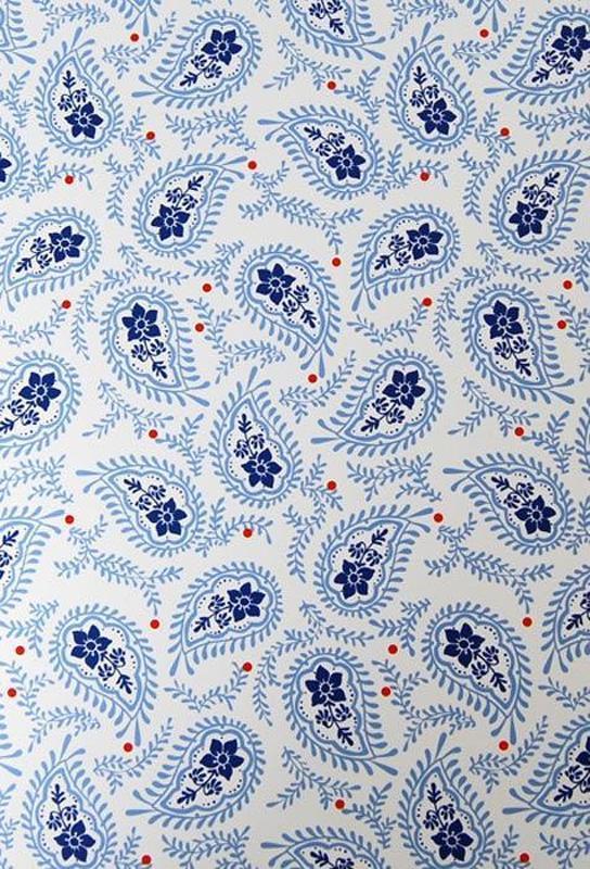 Бумага для скрапбукинга Heyda А4 300г/м2 9450296 Пейсли дизайн, Голубая