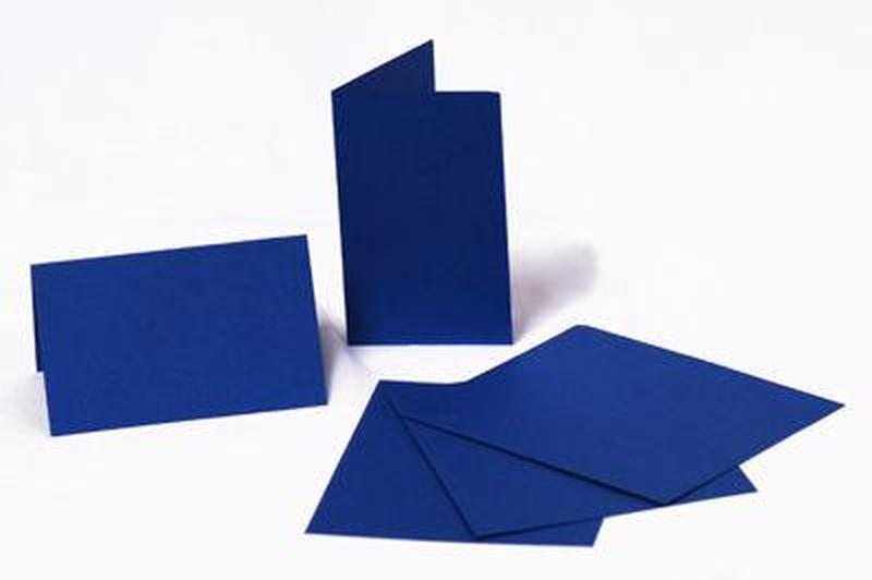 Набор заготовок для открыток 5шт 21х10,5см №4 темно Синий 220г/м Margo 94099044