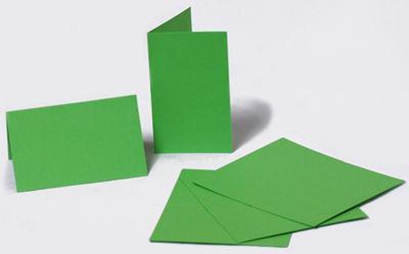 Набор заготовок для открыток 5шт 21х10,5см №3 салатовий 220г/м Margo 94099043