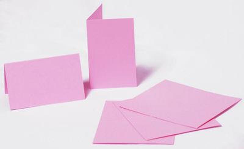 Набор заготовок для открыток 5шт 21х10,5см №6 блідо Розовый 220г/м Margo 94099046