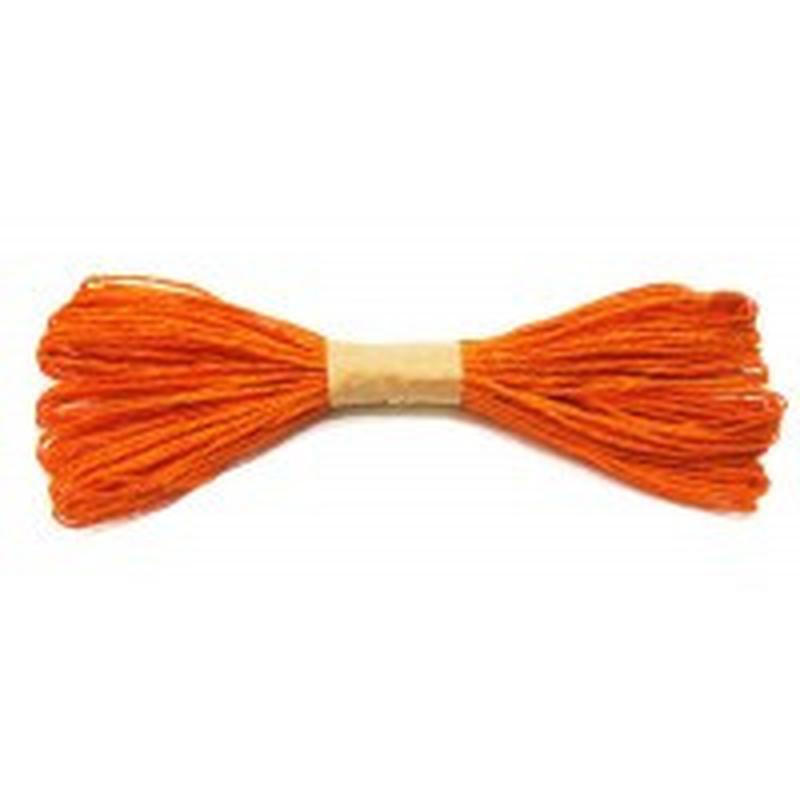 Веревочка бумажная 30 метров d:1,5-2мм Оранжевая 8174