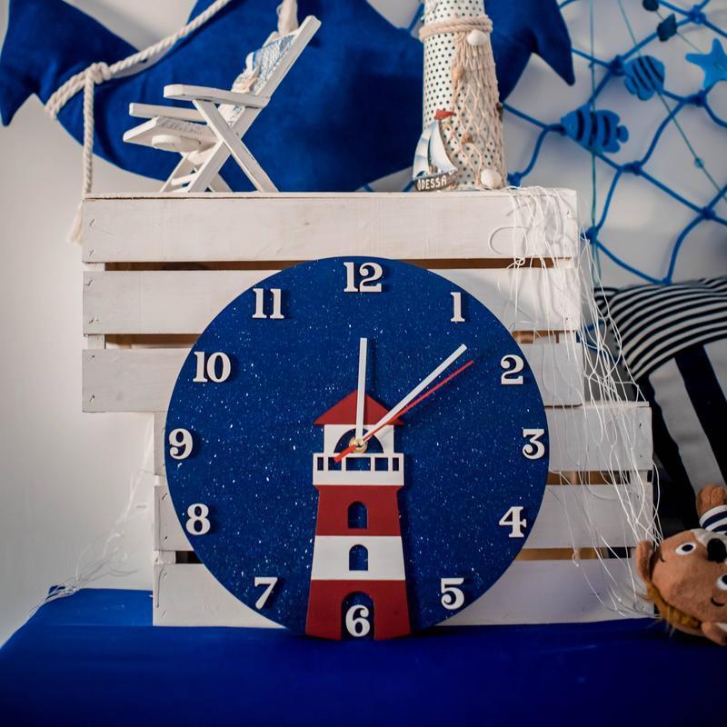 """Настенные часы для детской """"Маяк"""""""