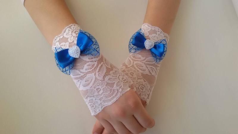 Ажурные митенки перчаточки