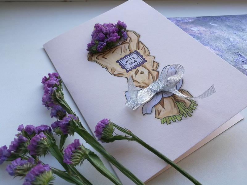 открытки из сухоцветов ручная работа нашей коллекции