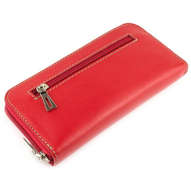 d485660bd93f Женский кожаный кошелек на молнии (красный) ручной работы купить в ...