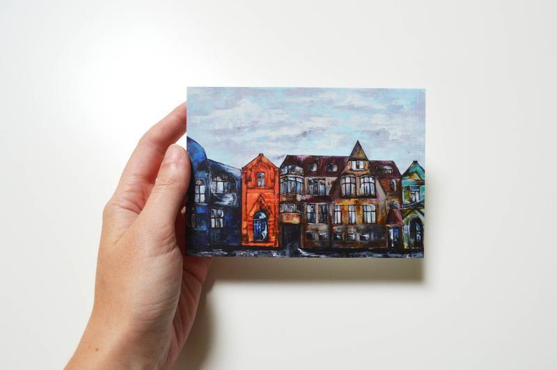 Набор из 5 открыток. Путешествия. Города. Оригинальный подарок