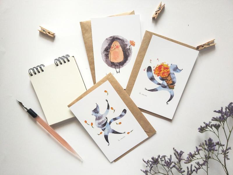Набор милейших открыток