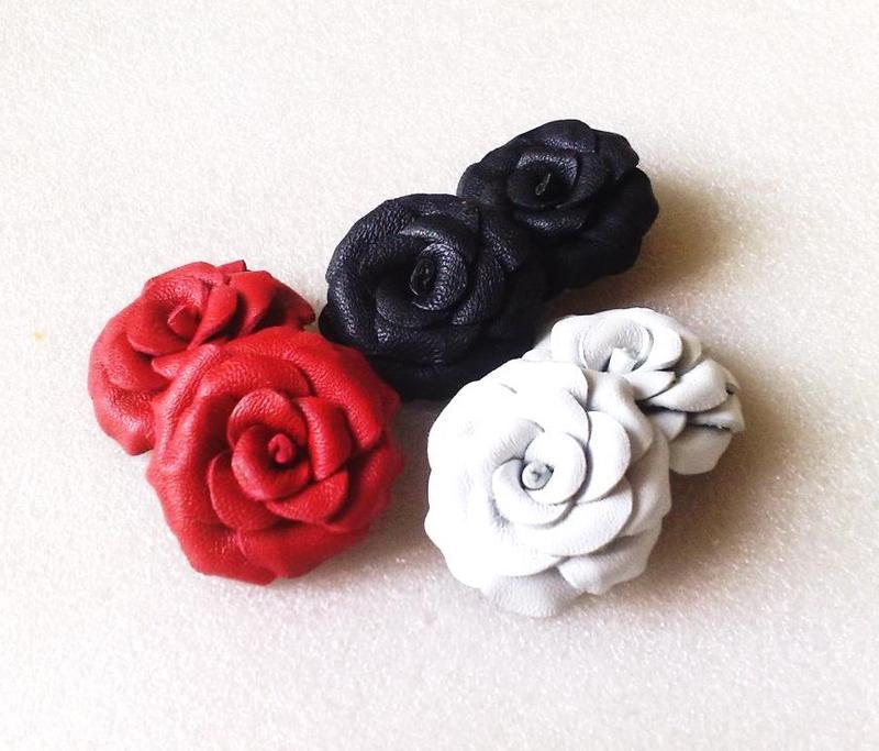 d4a4fb386e5e Клипсы из кожи-розы ручной работы купить в Украине. №175257