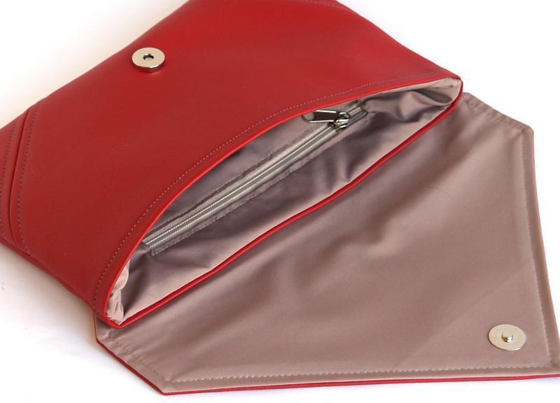 Красный клатч / Красная сумка через плечо