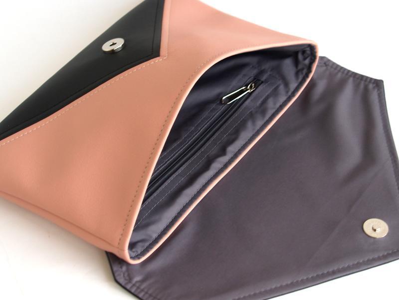 Черно розовый клатч / Сумка через плечо