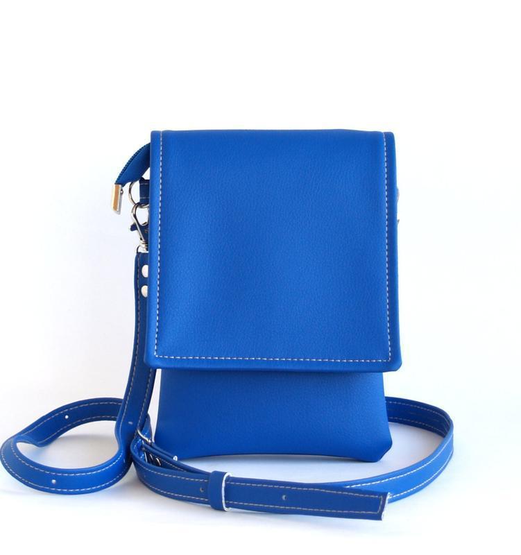 341f4d8d740a Ярко синяя сумочка через плечо ручной работы купить в Украине. №177944
